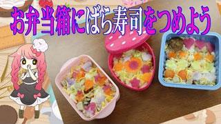 お弁当箱ごはん ばら寿司!盛り付けで変わる