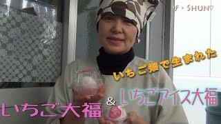 ザ・Shun♡ いちご畑から生まれたいちご大福&いちごアイス大福